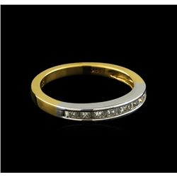 0.4 ctw Diamond Ring - 14KT White and Yellow Gold