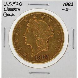 1883S $20 Liberty Gold Coin