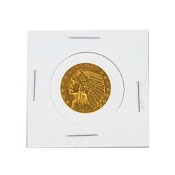 1911-S $5 AU Indian Head Half Eagle Gold Coin