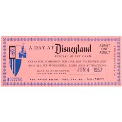 """""""A Day at Disneyland"""" Special Admission Ticket."""
