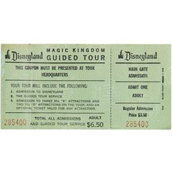 Pair of Rare Tickets Including a Guided Tour Coupon.