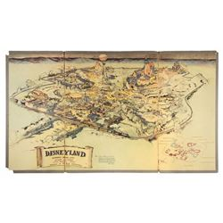 1953 Disneyland Presentation Map.