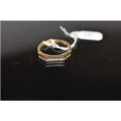 Diamond Band Ring, 15 Round Brilliant Cut Diamonds Approx .22 ct, Channel Set, 14K Gold, 2.6 grams