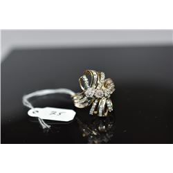 Diamond Ring - 28 Round Single Cut Diamonds Aapprox .14 ct, 40 Baguette Diamonds Approx .3 ct, 10K G