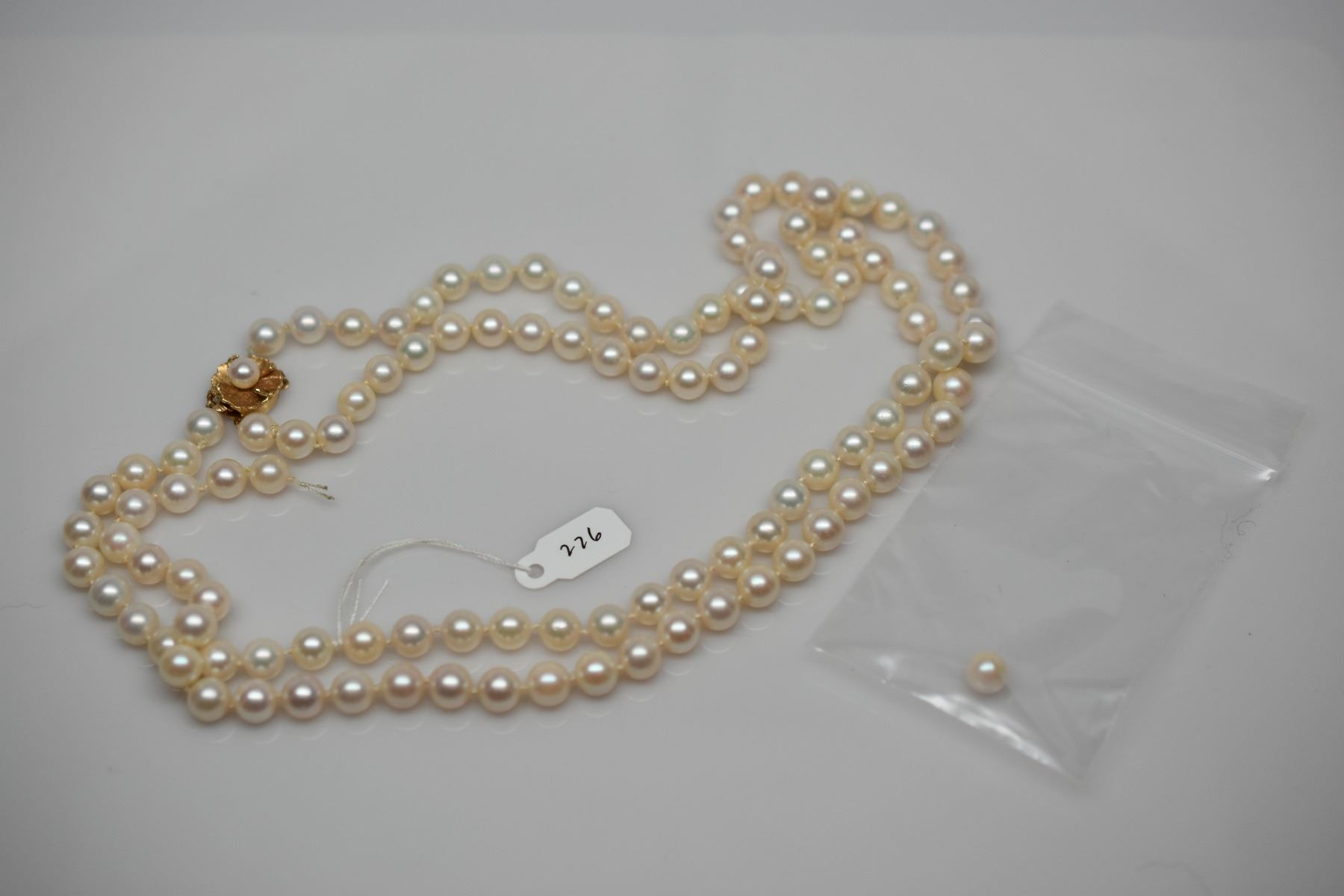 Video; Image 1 : Double Strand Pearl Necklace 18