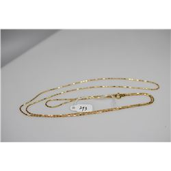"Barrel Bead Link Chain 31"" Length - Italy Anodized 925 Silver, 3.7 g"
