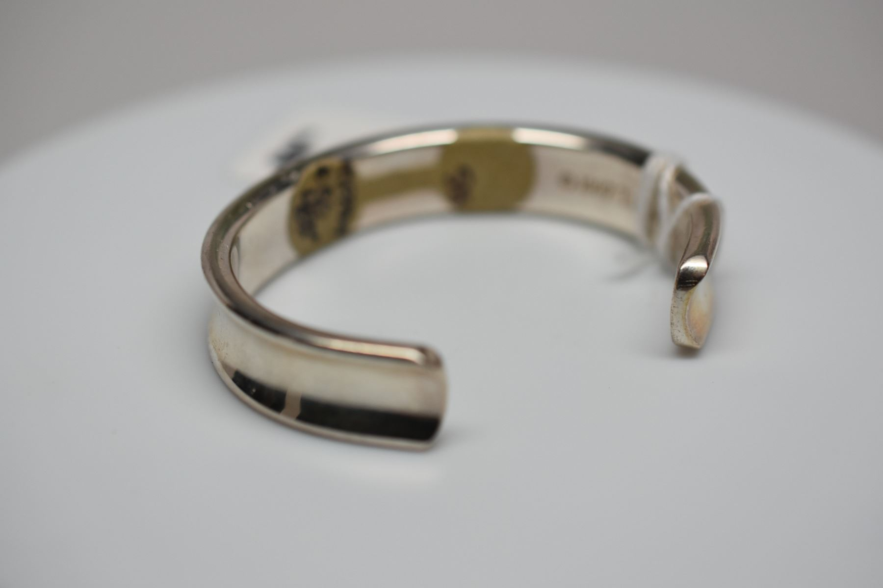 ladies bangles jewellery sterling handmade hallmarked wide solid bangle statement open hammered silver