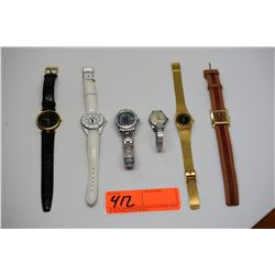 Qty 6 Designer Watches: Chanel, Gucci, Rolex? - Authenticity Unverified, Functionality Unknown