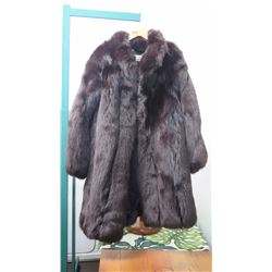 Authentic Fur Coat - Black Fox, (Nina Ricci)