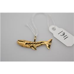 "14K Gold ""Whale"" Pendant - 14K Yellow Gold, .06 g"