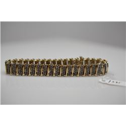 "Diamond Link Bracelet - 7"" Length, 518 Diamonds (2.59 ct, Imperfect Clarity), 10K, 15.9 g"