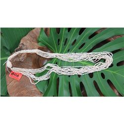 "Niihau Shell Lei - 10 Strands, 44"" Momi Ke'oke'o (White ""Dove Shells"")"