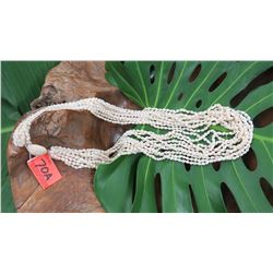"Niihau Shell Lei - 10 Strands, 37"" Momi Ke'oke'o (White ""Dove Shells"")"