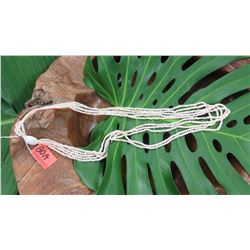 "Niihau Shell Lei - 5 Strands, 40"" Momi Kua'ula  (Off White ""Dove Shells"")"