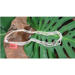 "Niihau Shell Lei - 5 Strands, 36 1/2"" Momi Ke'oke'o (White ""Dove Shells"")"