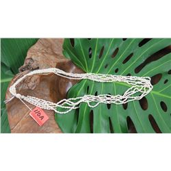 "Niihau Shell Lei - 5 Strands, 36"" Laiki Ke'oke'o (White ""Rice Shells"")"
