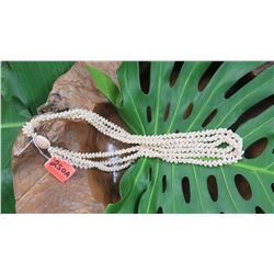 "Niihau Shell Lei - 3 Strands (Lengths 32"", 33"", 34"") Momi Kua'ula (""Dove Shells"")"