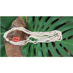 "Niihau Shell Lei - 5 Strands, 48"" Momi Kua'ula (Off White ""Dove Shells"")"