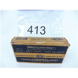 Rare and collectible 32-40 ammo