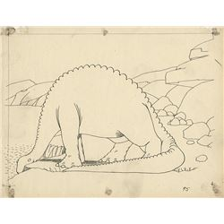 "Windsor McCay production drawing of ""Gertie the Dinosaur""."