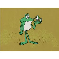 """Frog Family"" production cels on a production background from The Rocky and Bullwinkle Show."