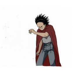 """Tetsuo"" in his red cape production cel from Akira."