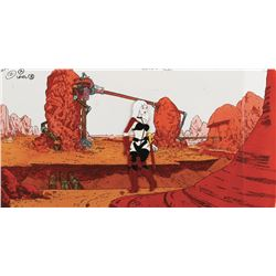 """Taarna"" concept cel on a production background from Heavy Metal."