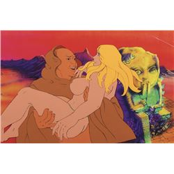 """Den"" carrying Girl production cel from Heavy Metal."