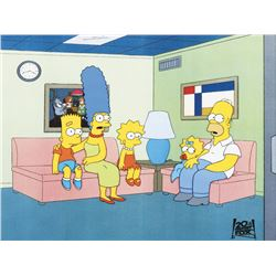 """The Simpson Family"" ""couch gag"" production cels from The Simpsons."