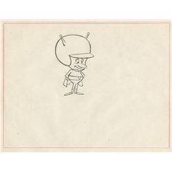 "(2) ""Gazoo"" production layout drawings from The Flintstones."