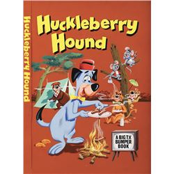 """Huckleberry Hound"" book cover illustration painting."