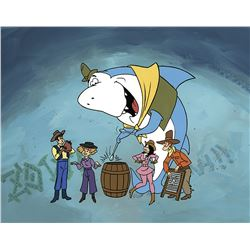 """Jabberjaw"" and ""The Neptune's"" production cel on a production background from Jabberjaw."