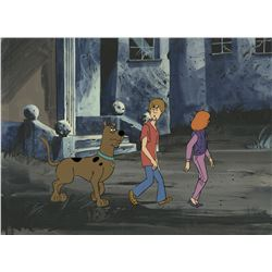 """Scooby-Doo"", ""Shaggy"" and ""Daphne"" production cels on background from The 13 Ghosts of Scooby-Doo."