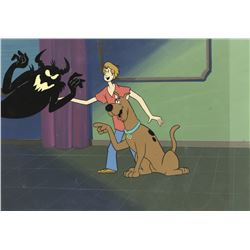 """Scooby-Doo"", ""Shaggy"" and ""Monster"" production cels & background from The 13 Ghosts of Scooby-Doo."