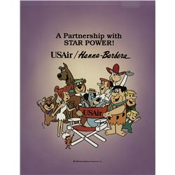 Hanna-Barbera characters production cel for USAir.