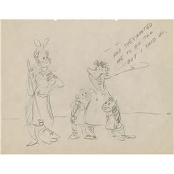 Chuck Jones archive of (35) gag sketches created while at Warner Bros. studios in the early 1940s.