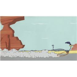 """Roadrunner"" production cel on a production background from a Warner Bros. theatrical short."