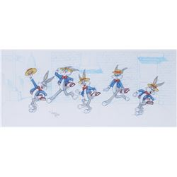 "Virgil Ross pan concept drawing for ""Bugs Bunny"" limited edition cel."