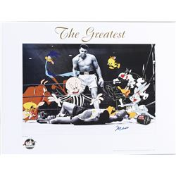"Muhammad Ali ""The Greatest"" signed limited edition lithograph with Warner Bros. characters."