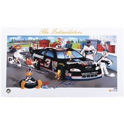 "Dale Earnhardt ""The intimidators"" signed limited edition lithograph with Warner Bros. characters."