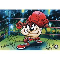"Boxing Legends ""Knockout Taz"" signed limited edition lithograph with Warner Bros. characters."