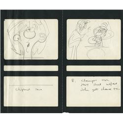 """""""Ringo Starr"""" storyboard drawing for King Features cartoon TV series The Beatles."""