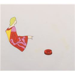 "Pepperland Woman"" and ""6"" production cels from Yellow Submarine."