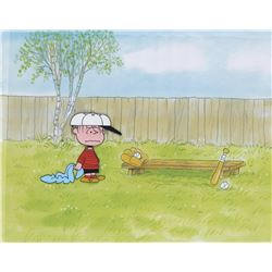 """""""Linus"""" baseball production cel from Charlie Brown's All Stars!"""