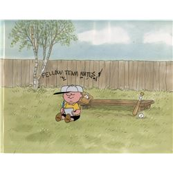 """Charlie Brown"" baseball production cel from Charlie Brown's All Stars!"