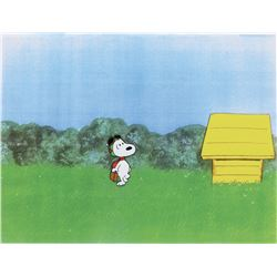 """Snoopy"" as the ""Flying Ace"" production cel from a Peanuts TV special."
