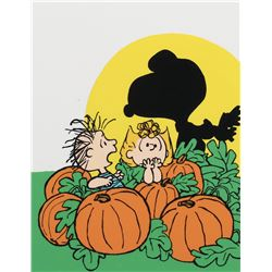 """Snoopy"", ""Linus"" and ""Sally"" publicity cel for It's the Great Pumpkin, Charlie Brown."
