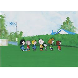 """Charlie Brown"", ""Snoopy"", ""Linus"", ""Lucy"", ""Sally"", ""Peppermint Patty"" & ""Marcie"" production cels."