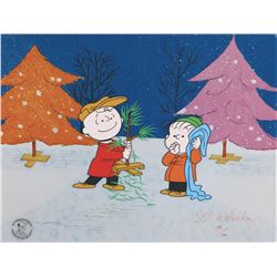 """Charlie Brown"" and ""Linus"" limited edition cel from A Charlie Brown Christmas."