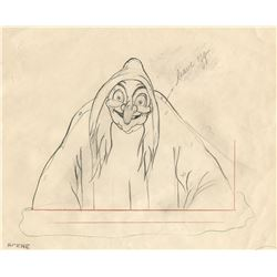 """Old Hag"" production drawing from Snow White and the Seven Dwarfs."